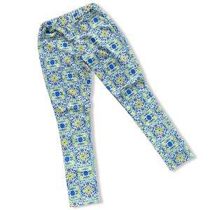 NWOT Boho geometric tile pattern floral pants